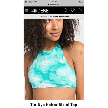 ARDENE Tie-Dye Halter bikini top