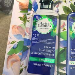 Herbal Essences Bio: Renew Micellar Water & Blue Ginger Conditioner