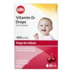 Life Brand Vitamin D3 Drops (400 IU/UI/mL)