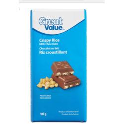 Great Value Crispy Rice Milk chocolate Bar