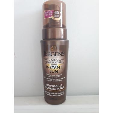 JERGENS® Natural Glow® Instant Sun Sunless Tanning Mousse Light Bronze