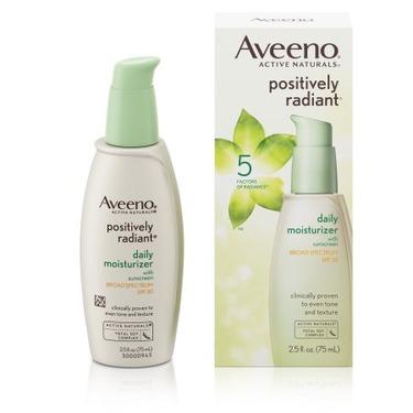 Aveeno positively radiant daily moisturizer spf30