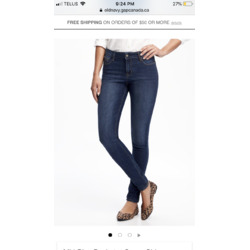 "Old Navy ""rockstar"" jeans"
