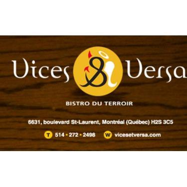 Vices & Versa Bistro Du Terroir Inc