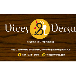 Vices & Versa Bistro Du Terroir Inc
