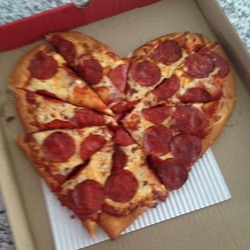 Boston Pizza's Heart Pizza for Valentines day