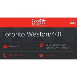GoodLife Fitness - Weston & 401