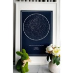 The Night Sky Custom Star Map