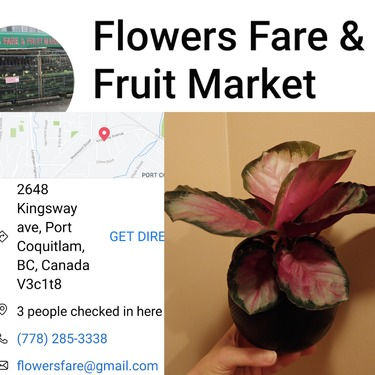 Flowers Fare and Fruit market, Port Coquitlam, BC